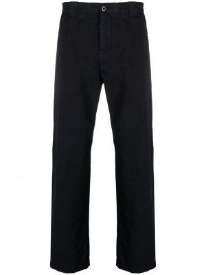 Прямые брюки с нашивкой-логотипом C.P. Company. Цвет: синий