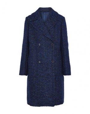 Пальто ELIE TAHARI. Цвет: темно-синий