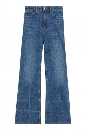 Синие расклешенные джинсы Sandro. Цвет: синий