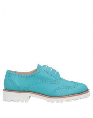 Обувь на шнурках ERNESTO ESPOSITO. Цвет: лазурный