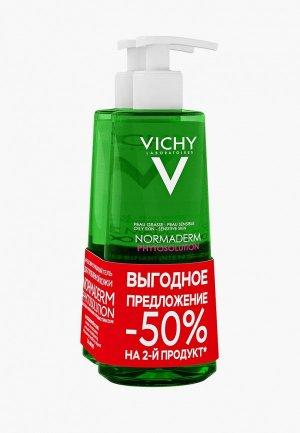 Набор для ухода за лицом Vichy NORMADERM PHYTOSOLUTION, Очищающий гель умывания, 200 мл + (Скидка -50%). Цвет: прозрачный
