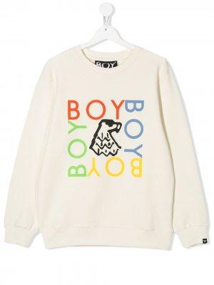 Толстовка с логотипом Boy London Kids. Цвет: белый