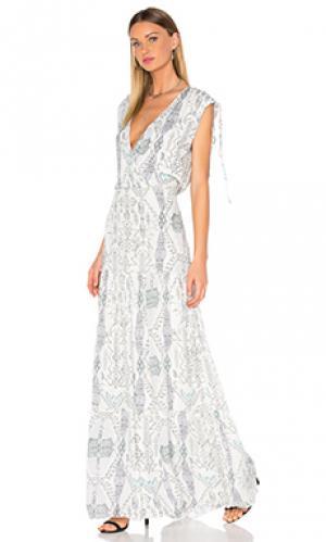 Макси платье luna Parker. Цвет: белый