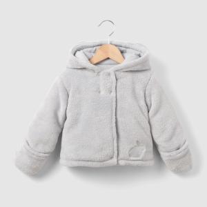 Пальто с капюшоном, зимняя модель, 0 мес. - 3 года LA REDOUTE COLLECTIONS. Цвет: белый,серый