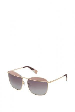 Очки солнцезащитные Furla. Цвет: золотой