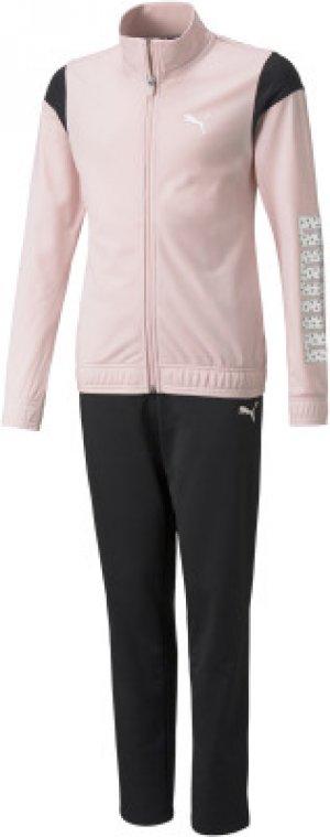 Костюм спортивный для девочек Tricot, размер 164-170 Puma. Цвет: розовый
