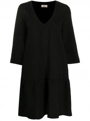 Платье-туника с V-образным вырезом Altea. Цвет: черный
