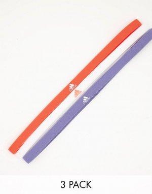 Набор из 3 повязок на голову разных цветов adidas Training-Multi performance