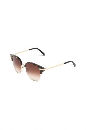 Очки солнцезащитные Balmain. Цвет: коричневый