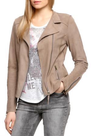 Кожаная куртка POLO TEAM. Цвет: 2207