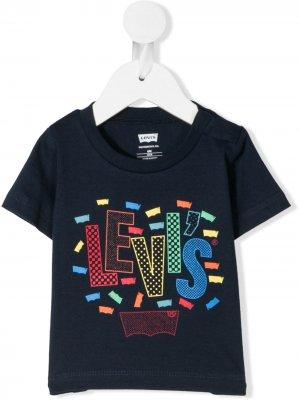 Levis Kids футболка с логотипом Levi's. Цвет: синий
