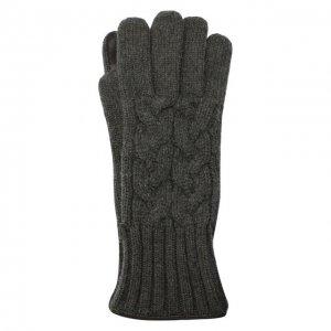 Кашемировые перчатки Kiton. Цвет: серый