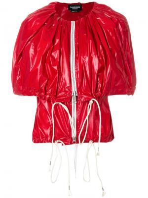 Жакет с кейпом на молнии Calvin Klein 205W39nyc. Цвет: красный