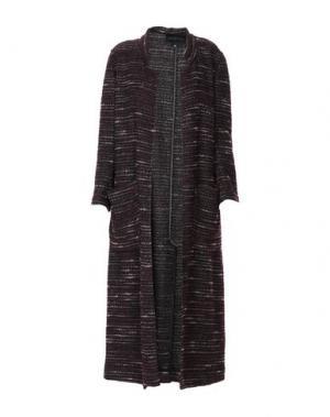Легкое пальто KATIA GIANNINI. Цвет: баклажанный