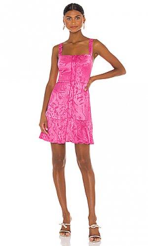 Платье alys Alexis. Цвет: розовый