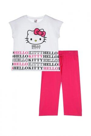 Пижама PlayToday. Цвет: белый, розовый, черный