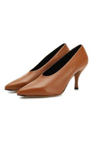 Кожаные туфли Dries Van Noten. Цвет: коричневый