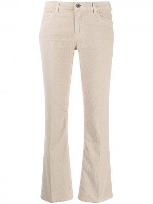 Укороченные расклешенные брюки Haikure. Цвет: нейтральные цвета