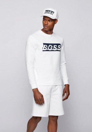 Свитшот Boss Salbo Iconic. Цвет: белый