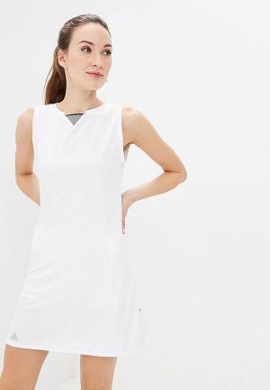Платье adidas CLUB DRESS. Цвет: белый