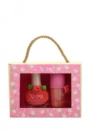 Набор косметики Nomi Лак для ногтей №05 + Блеск губ Нежный коралл. Цвет: розовый