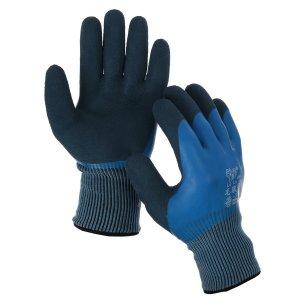 Перчатки нейлоновые, утеплённые, с двойным латексным обливом, размер 10, синие, greengo