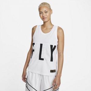 Женское баскетбольное джерси Dri-FIT Swoosh Fly - Белый Nike