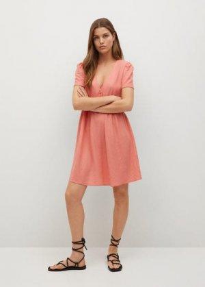 Короткое струящееся платье - Thalia8 Mango. Цвет: светло-розовый