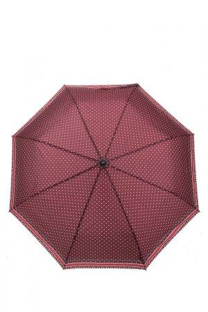Зонт Doppler. Цвет: бордовый, горошек