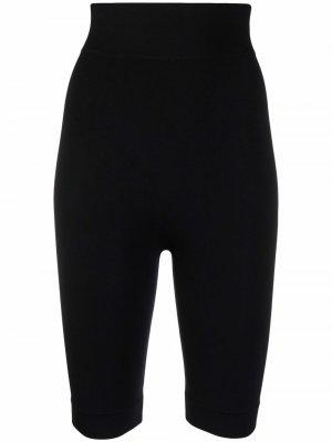 Моделирующие шорты с завышенной талией ADAMO. Цвет: черный