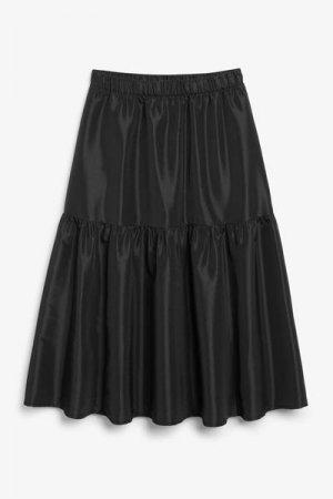 Ярусная юбка макси Monki. Цвет: черный