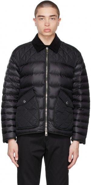 Black Down Diamond Quilted Jacket Burberry. Цвет: black