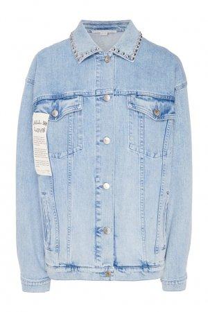 Джинсовая куртка с заклепками Stella McCartney. Цвет: голубой