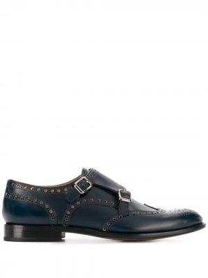 Churchs туфли монки с брогированием Church's. Цвет: синий