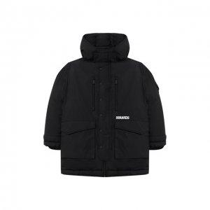 Пуховая куртка Dsquared2. Цвет: чёрный