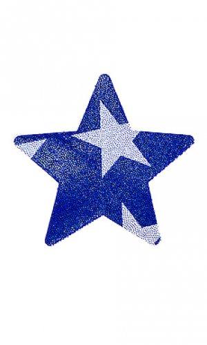 Накладки на соски patriot star Bristols6. Цвет: синий