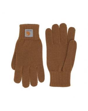 Перчатки CARHARTT. Цвет: верблюжий