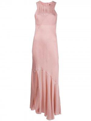 Расклешенное платье макси Rivale Ann Demeulemeester. Цвет: розовый