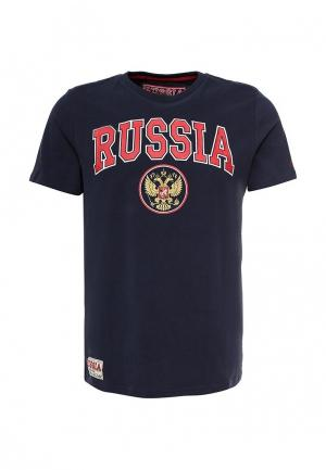 Футболка Atributika & Club™ Russia. Цвет: синий