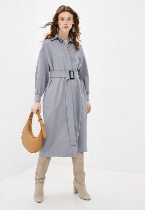 Платье Katya Erokhina. Цвет: серый