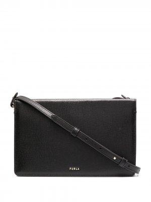Фактурная сумка через плечо Babylon Furla. Цвет: черный