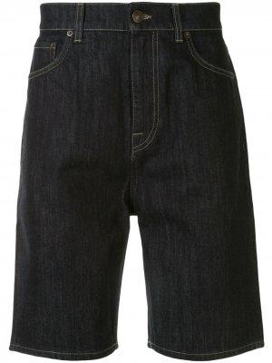 Джинсовые шорты-бермуды Cerruti 1881. Цвет: синий