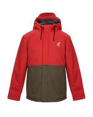 Куртка FAT MOOSE. Цвет: красный