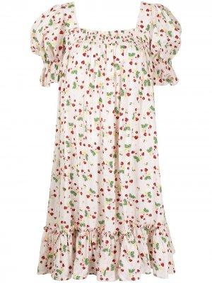 Платье с логотипом byTiMo. Цвет: розовый