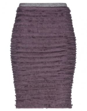 Юбка до колена ANDREA TURCHI. Цвет: фиолетовый