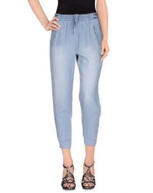 Джинсовые брюки-капри BLACK ORCHID. Цвет: синий