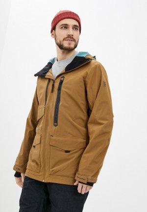Куртка сноубордическая Billabong PRISM STX JKT. Цвет: коричневый