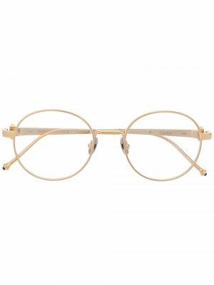 Очки Pasha в круглой оправе Cartier Eyewear. Цвет: золотистый