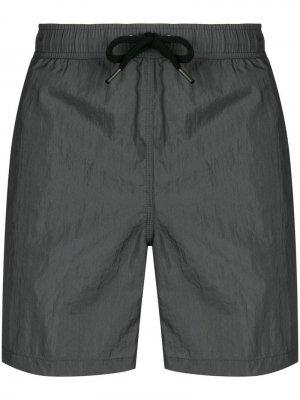 Плавательные шорты со вставками Aspesi. Цвет: серый