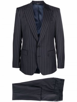 Single-breasted pinstripe suit Dolce & Gabbana. Цвет: синий